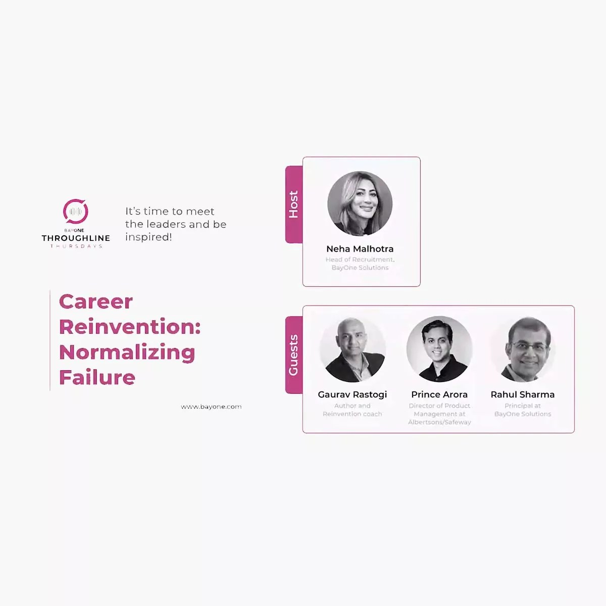 Career Reinvention: Normalizing Failure
