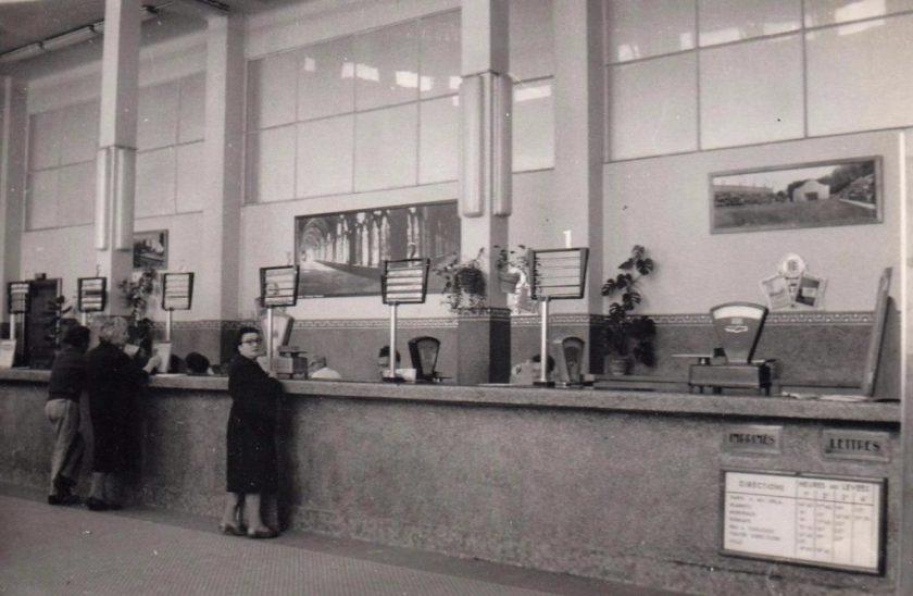 Poste centrale de Bayonne dans les années 60