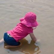 Preschool kid at the beach