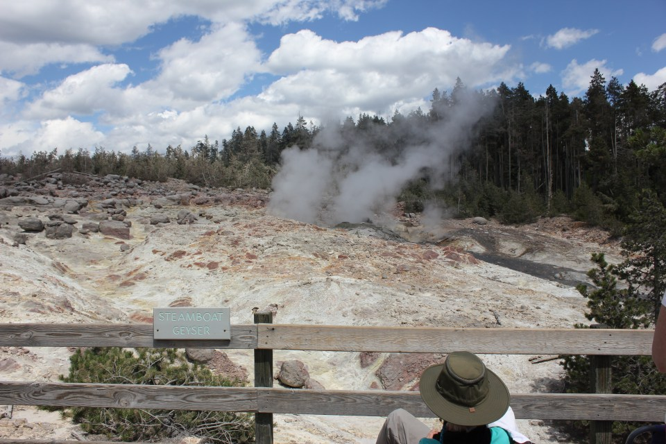 Norris Geyser Basin at Yellowstone National Park