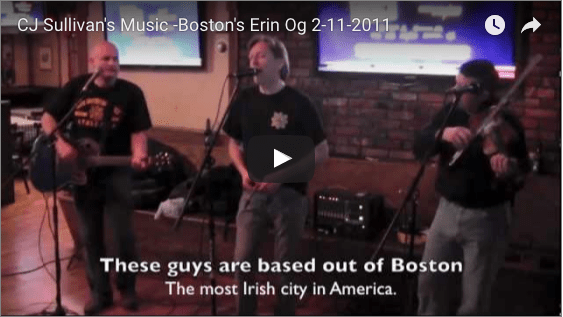 CJ Sullivan's Music -Boston's Erin Og 2-11-2011