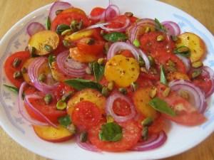 photo of salad platter