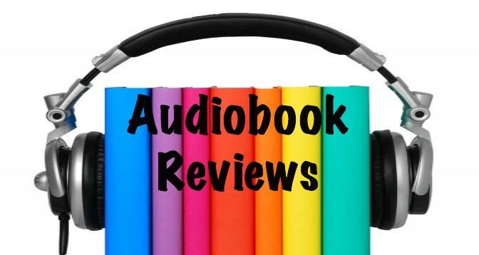 graphic depicting books with set of headphones around them, text says Audiobook Reviews