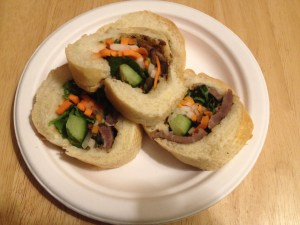 banh mi sandwich slices