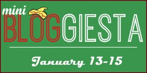 Mini Bloggiesta January 13 to 15 badge