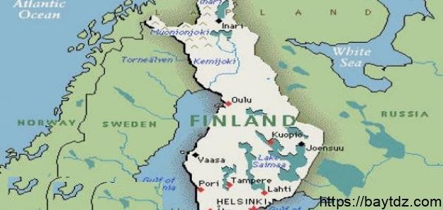 أين تقع فنلندا