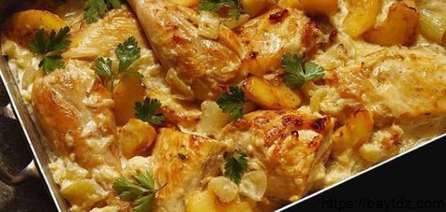 طبق دجاج في الفرن