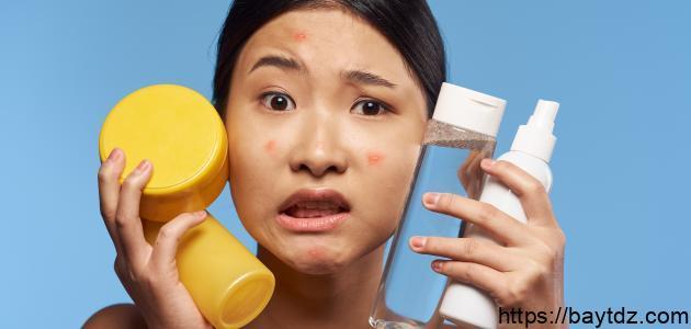 طرق إزالة حبوب الوجه