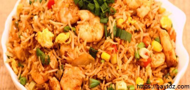 طريقة الأرز بالربيان