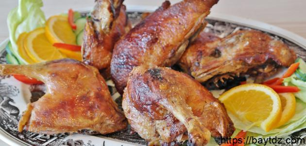 طريقة تحمير الدجاج في الفرن