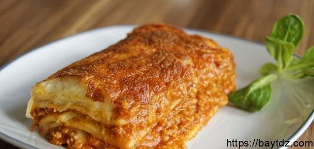 طريقة طهي لازانيا بالفرن