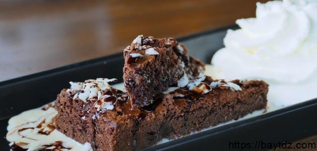 طريقة عمل كيكة جوز الهند بالشوكولاتة
