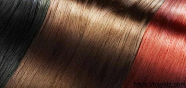 طريقة مزج صبغات الشعر