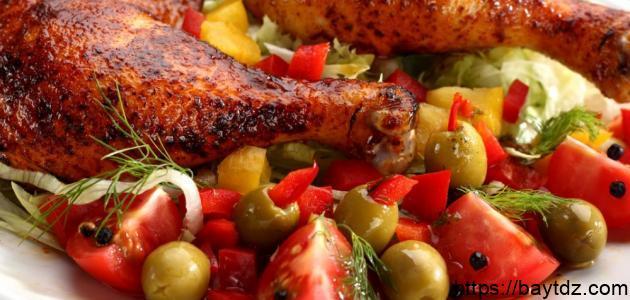 كيف أعمل دجاج مشوي للرجيم