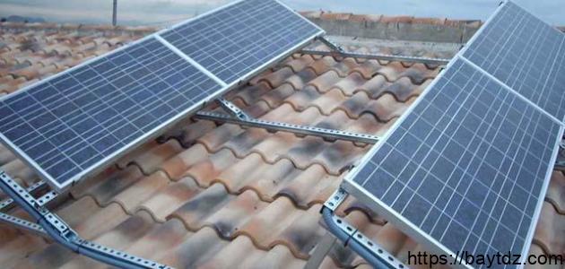 كيف تستخرج طاقة شمسية بسيطة