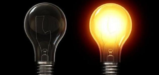 مصادر الضوء