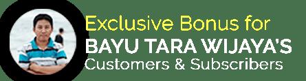 Review & Bonuses Bayu Tara Wijaya