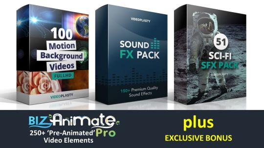 BizAnimate: 250 Pre-Animated Video Assets with GIF & MOV Formats