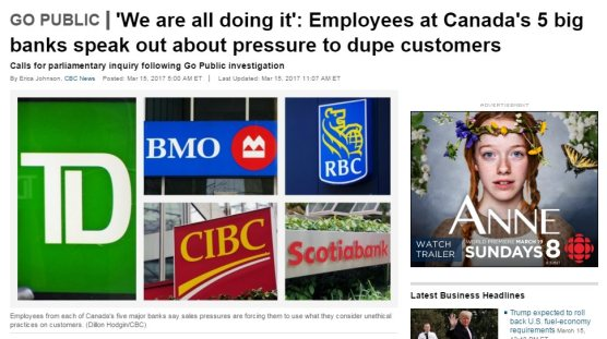 Now CBC targets all five banks