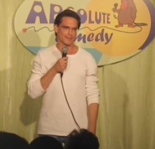 A part-time comedian