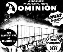 """Ad for """"Leaside"""" Dominion"""