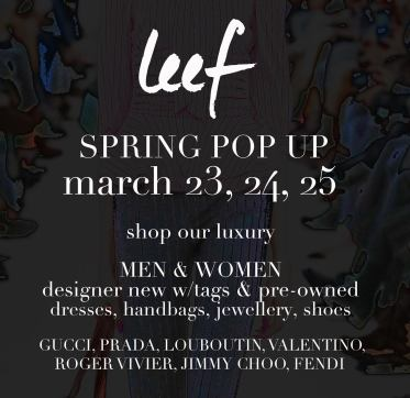 Leef Luxury Pop Up at Creed's