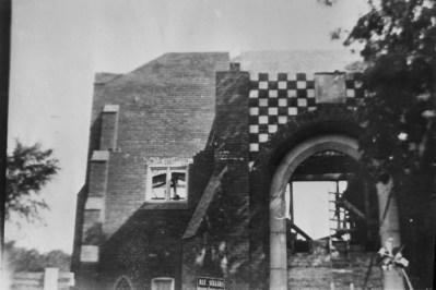 Beside church under construction 1914