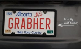 Son Troy has Grabher plate in Alberta