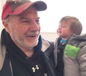 Kim McCullough's dad with granddaughter Sasha
