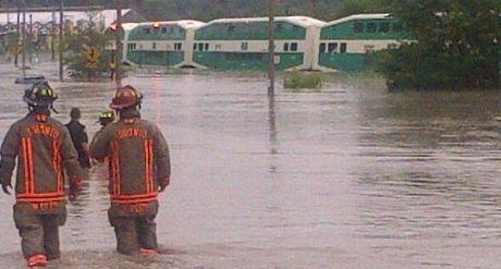 2013 flooding stranded GO train