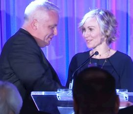 Joe Matthews receives honour from Jennifer Keesmaat