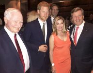 Harry with Governor General Johnzston, Mayor Tory and wife Barbara Hackett