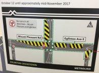 No turns at Mt. Pleasant/Eglinton until mid-November