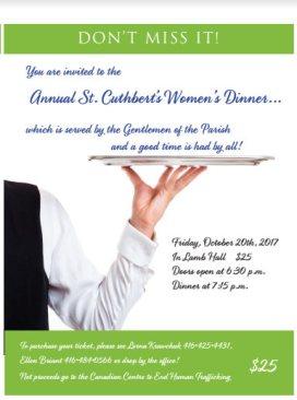 Women's Dinner at St. Cuthbert's