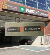 New entry and exit at 1860 Bayview