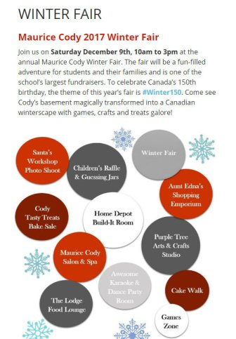 Cody Winter Fair Dec. 9