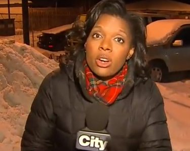 Reporter Sutherland pointed out security cameras