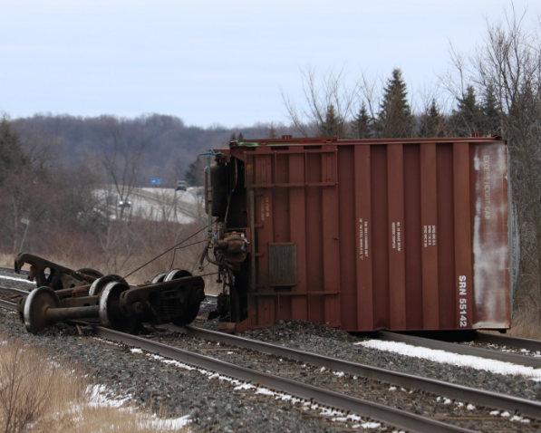 Kingston man shoots video of train derailment as it occurs
