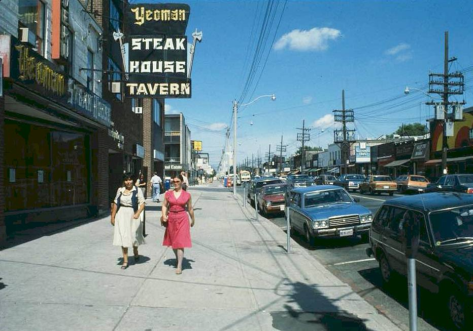 Shots of Bayview Ave nearly 40 years ago posted locally