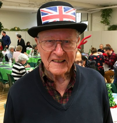 Holly Berry stalwart Bob Goodings in signature union flag derby