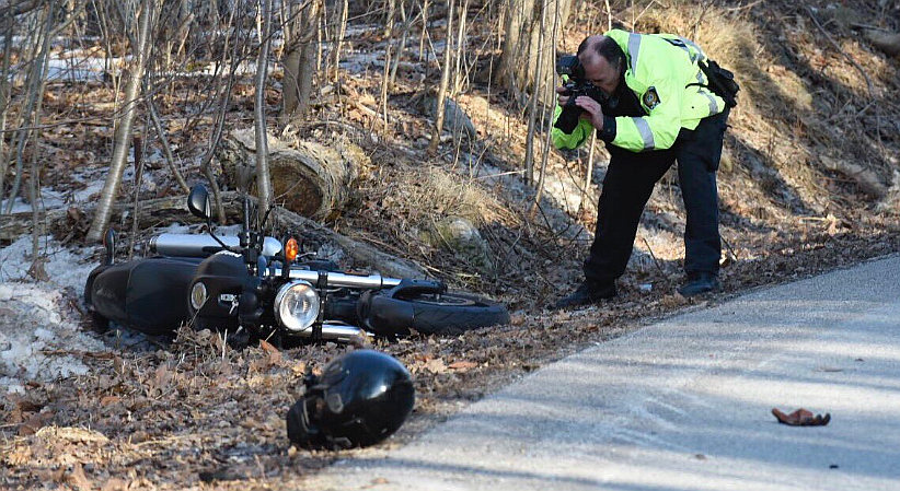 Motorcyclist, 38, dead in crash with truck on curving road