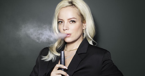 British singer Lily Allen is one of the glamorous faces employed by Vype