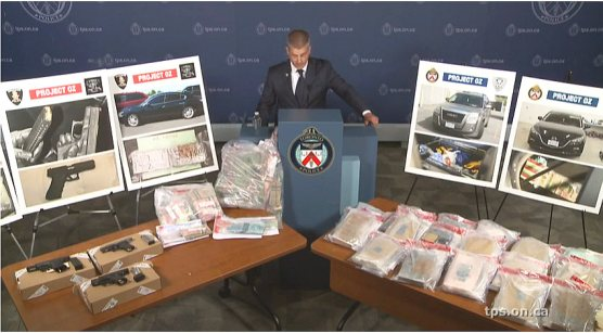 Fentanyl, weapons and cash seizures