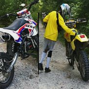 Assault suspects and their dirt bikes