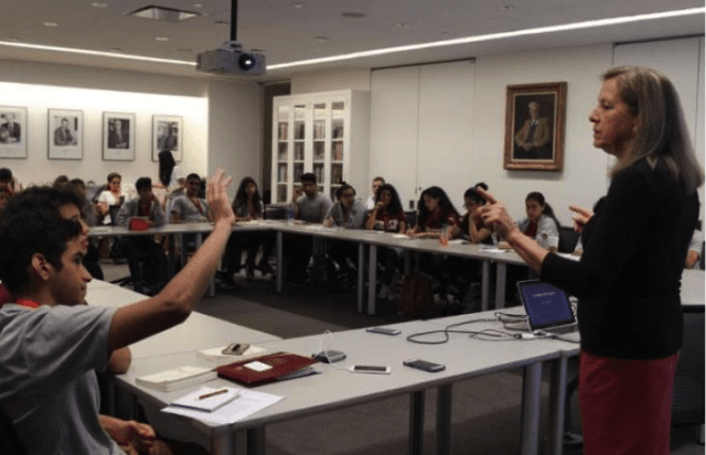 Lecture with Dr Hicks at Harvard University