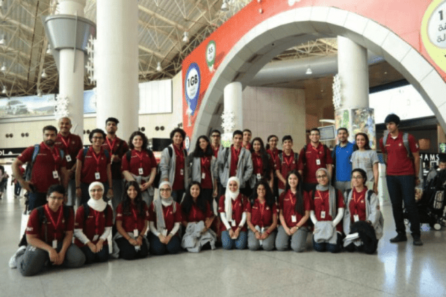 The Proteges at Kuwait International Airport, on their way to Boston!