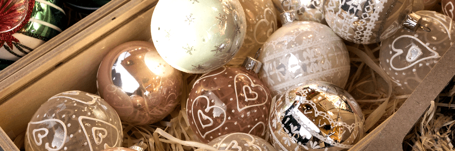Glass Christmas tree ornaments