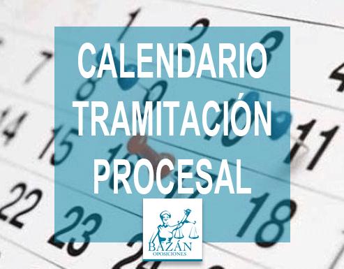Calendario Tramitación Procesal