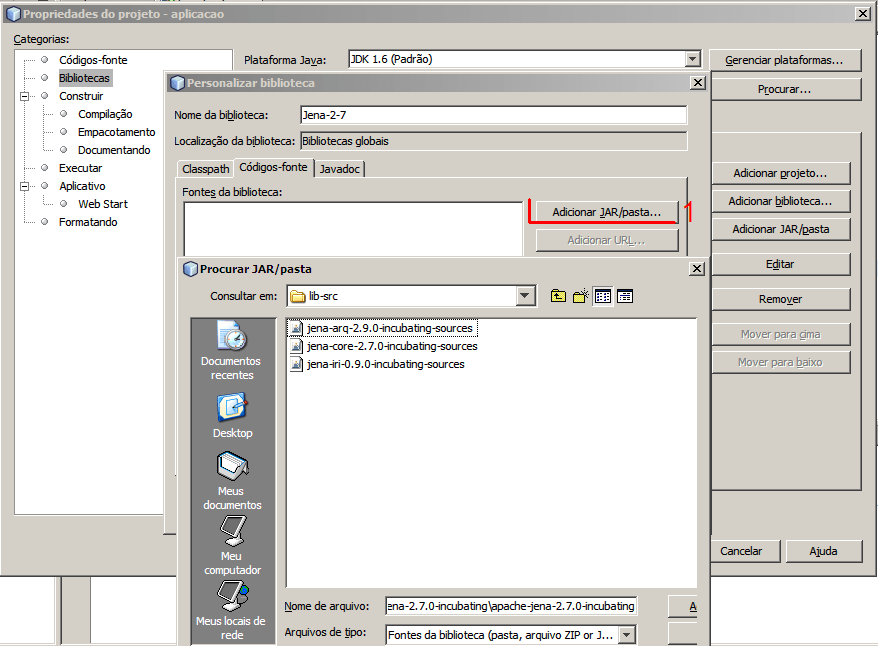 Instalação Jena - NetBeans e Eclipse (4/6)