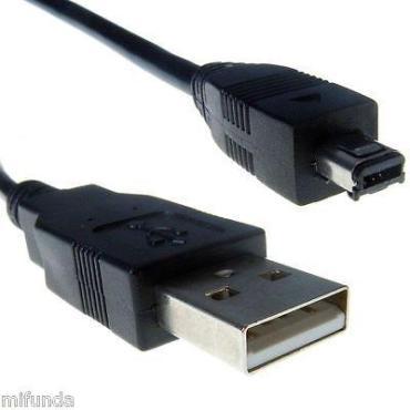 CABLE USB MINI B 4 PIN MACHO A USB 2.0 MACHO DE 1m PARA MP3 / MP4 / CÁMARAS ETC
